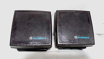 Lot Of 2 - Motorola Radio External Speaker Hsn6001b Cut Cable W Bracket