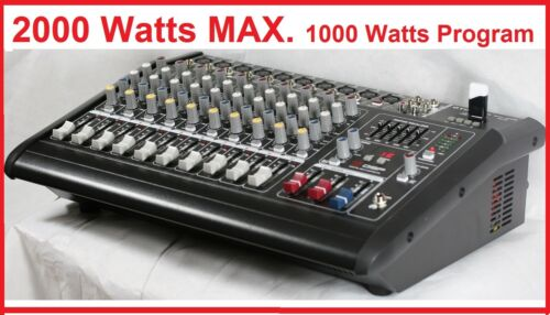 2000 Watts 10 Ch Powered Mixer power mixing Amplifier Amp refurbished BM228