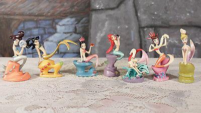 Disney Ariel the Little Mermaid & Sisters PVC figures 7 complete set cake topper