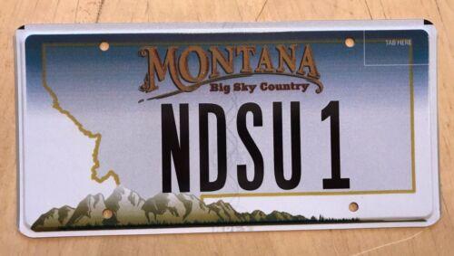 "MONTANA VANITY AUTO LICENSE PLATE "" NDSU 1 "" NORTH DAKOTA STATE UNIVERSITY ND"