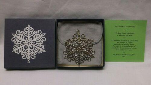 MMA Metropolitan Museum of Art 1976 Christmas Snowflake Ornament w/box & bag