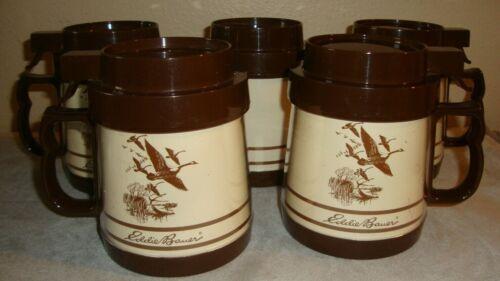 Thermo Serv Eddie Bauer Canadian Geese Goose Travel Coffee Mug Set Five 5