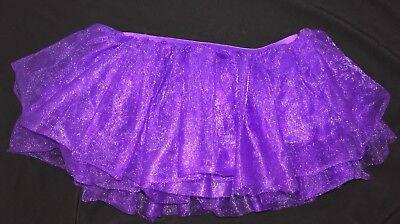 womens ONE SIZE STANDARD HALLOWEEN COSTUMES USA solid purple TUTU DANCE WEAR @@