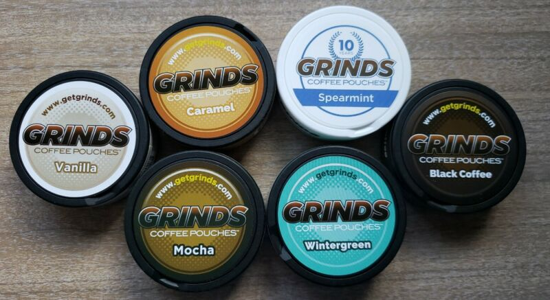 6 Containers Sample Pack of Grinds Coffee Pouches as Seen Shark Tank New