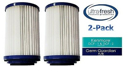 2 HEPA Allergy Vacuum Cleaner Filter for Kenmore DCF-1 DCF1 DCF2 20-82720 82912