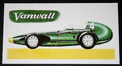 VANWALL    2..5 Litre Grand Prix   Racing Car     Vintage Card   ### VGC
