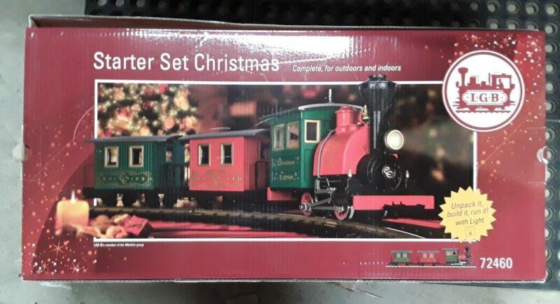LGB 72460 Christmas G Gauge Steam Starter Train Set EX/Box (CE)