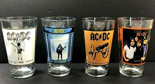 AC/DC Pint Glasses 4 Pack 2009 Collector