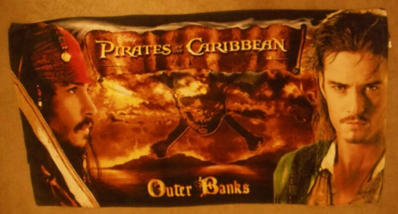PIRATES OF THE CARIBBEAN TOWEL - OUTER BANKS - w/ Depp andBloom
