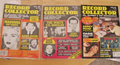 Lot of 3 RECORD COLLECTOR mags Kate Bush Dylan Beatles Madonna Who # 76 152 223