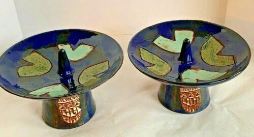 Mid-Century Modern Art Pottery Candle Holder Tilburg Netherlands Dutch Bauhaus