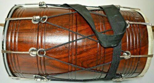 Indian Folk Musical Instrument Wedding Rosewood Sheesham Punjabi Bhangra Dhol