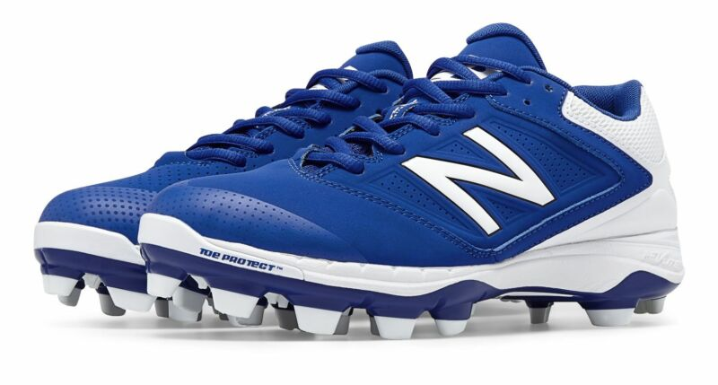 New Balance Low-Cut 4040v1 TPU Softball Cleat Womens Shoes Blue with White Size