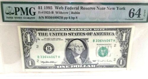 """Add a  RARE *Web Note* PMG """"64"""" to your Collection Choice UNC. 1995 - FREE SHIP"""