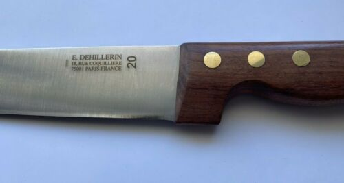 Unused Vintage 20cm Butcher Carving Knife from Paris Kitchen Store E. Dehillerin