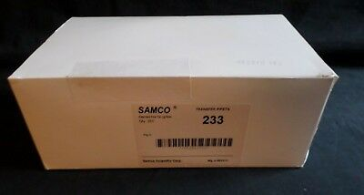 250 Samco Polyethylene Disposable 3.1ml Fine Tip Bulb Transfer Pipets 233