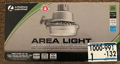 (Lithonia Lighting Gray Outdoor Integrated LED Area/Security Light -Dusk to Dawn)