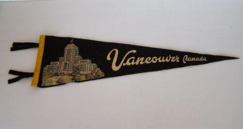 VINTAGE VANCOUVER CITY HALL CANADA 57x17cm SOUVENIR PENNANT FELT CLOTH WALL FLAG