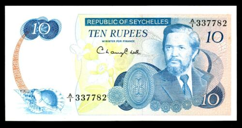 Seychelles … P-19 … 10 Rupees … ND(1976) ... *XF*