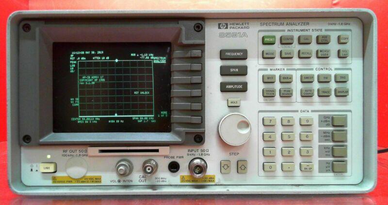 HP - Agilent - Keysight 8591A Spectrum Analyzer, 9 kHz to 1.8 GHz