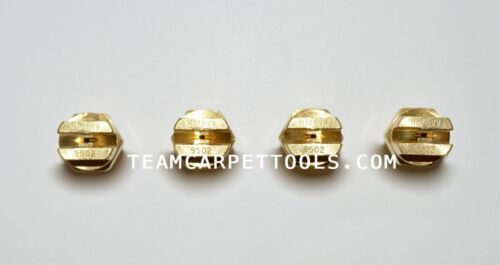 """Carpet Cleaning Wand Replacement Brass 1/8"""" V-Jets 9502 Vee Jets (4 count)"""