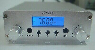 76mhz-108mhz 15w Pll Fm Transmitter St-15b Stereo Fm Broadcast Radio Station
