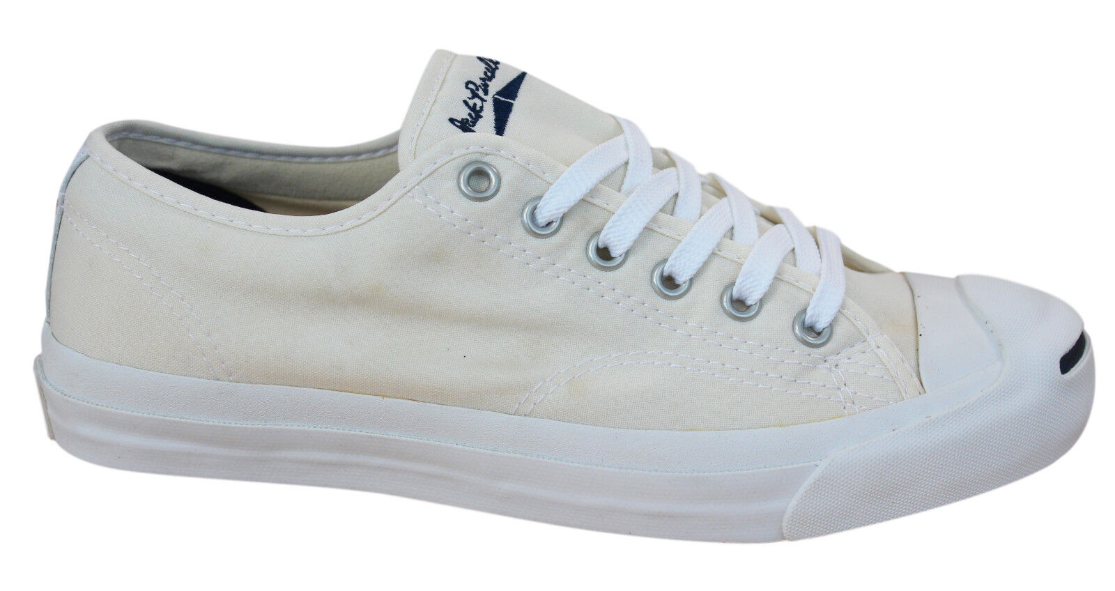 0c93a702253e Converse Jack Purcell CP JP Lace Up Mens Trainers Off White Canvas ...