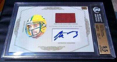 TRUE #1/1 BGS 9.5 10 NFL Game Used Ball Aaron Rodgers Auto 2018 Signed Autograph