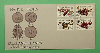 DR WHO 1983 FALKLAND ISLANDS FDC NATIVE FRUITS  C241984