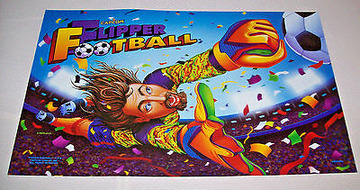 Capcom FLIPPER FOOTBALL 1996 Original NOS Pinball Machine Translite Art Soccer