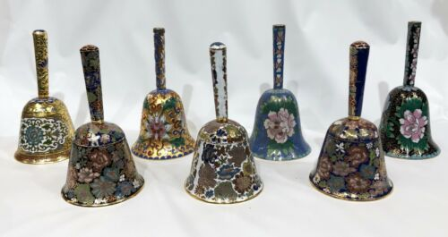 VINTAGE CHINESE CLOISONNE HAND BELL