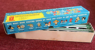 Boxed Vintage Chad Valley Give A Show Projector Slides Set E - DISNEY Complete