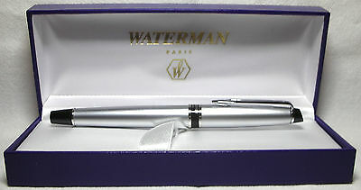 Waterman Expert City Line Urban Silver Fountain Pen Med Pt  New In Box S0725880