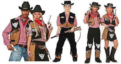 Westerngirl Cowboy Weste Wilder Westen Cowgirl Hut Kleid Kostüm Lady Texas Rode