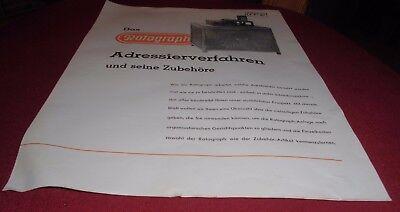 prospekt blatt rotograph  roto werke ag königslutter büro reklame werbung 1952