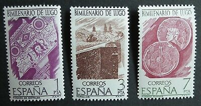 Spain (1976) 2000 Years Lugo / Coins / Money on Stamps - Mint (MNH)