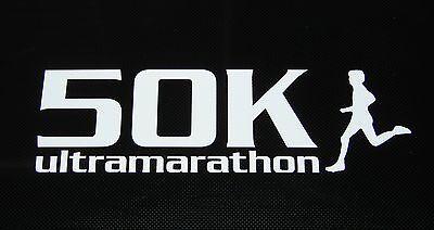 """RUN Half Marathon Decal Sticker Runner 2.5/"""" 3.5/"""" 5/"""" 6/"""" WHITE BLACK SILVER PINK"""