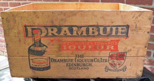 Drambuie Case Crate Box Dated 1969  Edinburgh Scotland Tayler NY,NY