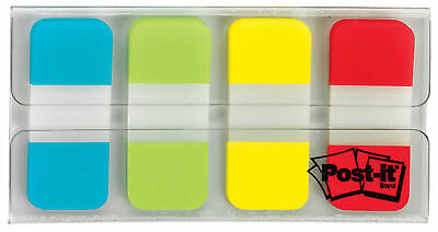 3m Post It Tabs .625 X 1.5 Writable Repositionable Blue Green Yellow Red 1c