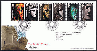 The British Museum 2003 First Day Cover - SG2404 to SG2409 Tallents Cancel