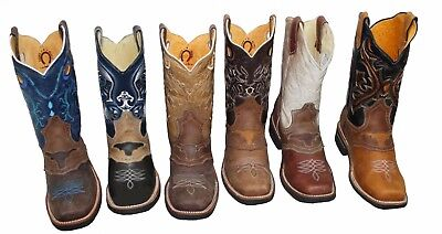 Mens Rodeo Cowboy Genuine Leather Western Square Toe Boots   58 99