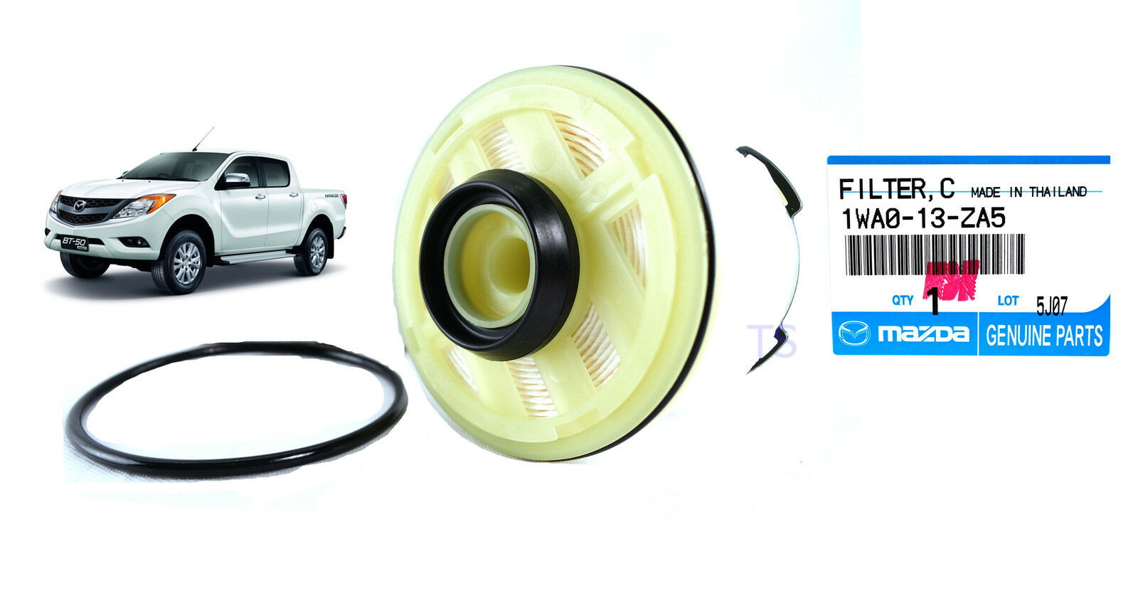 GENUINE FUEL FILTER ELEMENT REPLACEMENT FOR MAZDA BT-50 PRO 2-4DR 2012 13  15-ON