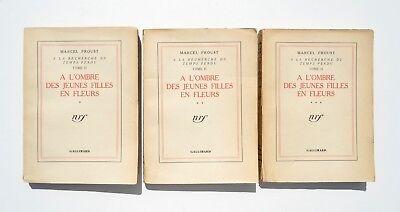 Marcel PROUST - A l'ombre des jeunes filles en fleurs - 3 vol. 1939 - 155e mille