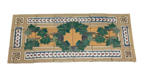 Antique Decorative Leafy Mural Floor Tile Set