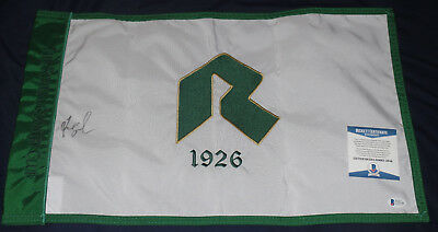 Fred Couples Masters Flag (FRED COUPLES SIGNED AUTO'D RIVIERA COUNTRY CLUB FLAG BAS COA 1992 MASTERS CHAMP )