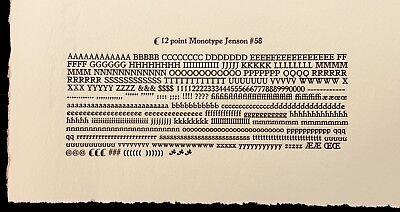 New Letterpress Type - 12 Point Jenson Golden