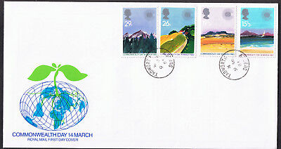 Commonwealth Day 1983 First Day Cover - Stamps SG1211 to SG1214 Surrey