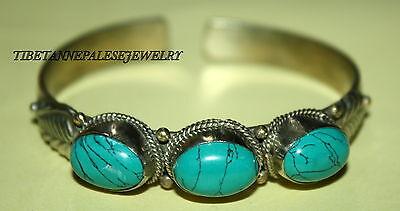 Turquoise Tibet bracelet Nepal bracelet Cuff Bracelet Tibetan Bracelet gypsy 393