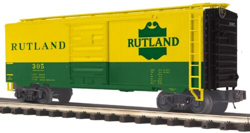 MTH 20-93777 RUTLAND 40 FT  BOXCAR RD # 305 NIB  O GAUGE 3 RAIL