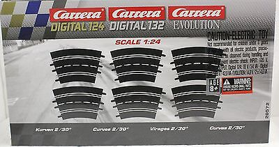 Carrera 20572 6 Pieces of Radius 2/30 Curve Track for 1/24 & 1/32 Slot Car Track, used for sale  Philadelphia